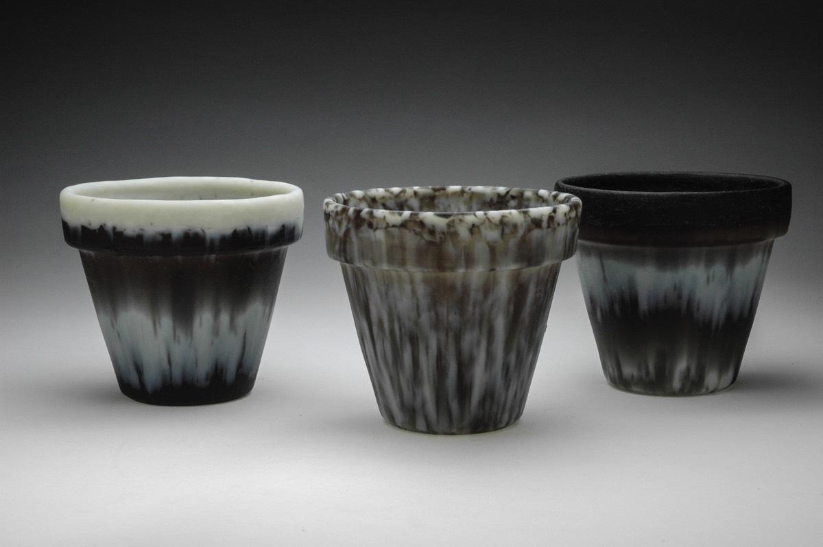 Kiln-glass Flowerpots